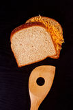 Sandwich with shredded cheese Stock Photo