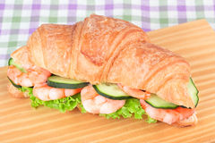 Sandwich with shrimp salad Royalty Free Stock Photography