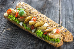 Sandwich with shrimps Stock Image