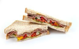 Sandwich slices Royalty Free Stock Images