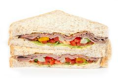 Sandwich slices Stock Photography