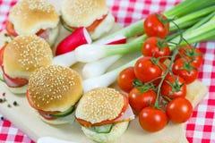 Sandwich - Small sandwiches Stock Photography