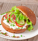 Sandwich with smoked bacon Royalty Free Stock Photos