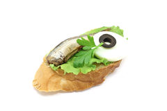 Sandwich with smoked fish Royalty Free Stock Photos