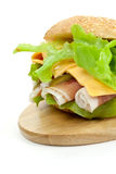 Sandwich with smoked ham and lettuce Stock Image