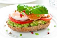 Sandwich with smoked salmon Stock Photos