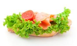 Sandwich with smoked salmon Stock Photo