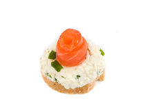 Sandwich with smoked trout Royalty Free Stock Images