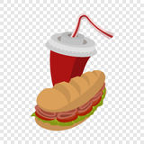 Sandwich and soda Stock Image