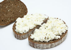 Sandwich with soft cheese Royalty Free Stock Images