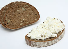 Sandwich with soft cheese Stock Image
