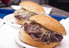 Sandwich with spleen Stock Photo