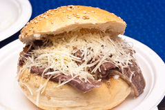 Sandwich with spleen Stock Photos
