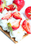 Sandwich with strawberry vetical Stock Photo