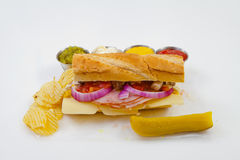 Sandwich. Sub foot long Stock Photography