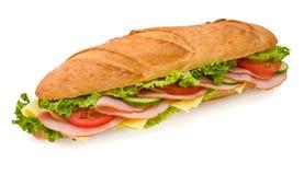 Sandwich submersible à jambon et à fromage de Footlong Photo libre de droits