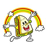 Sandwich sveglio felice Fotografia Stock