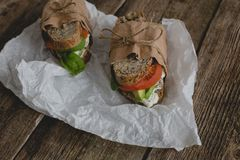 Sandwich on the table Royalty Free Stock Photo