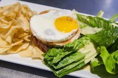 Sandwich tartare DE boeuf Angus Stock Fotografie
