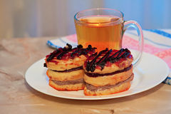 Sandwich for tea. Lie on a plate of sandwiches for tea Royalty Free Stock Photography