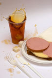 Sandwich with tea Stock Photos