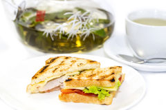 Sandwich with tea Stock Photo