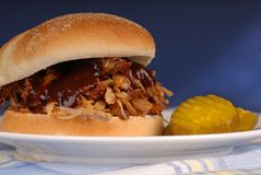 Sandwich tiré à porc Image libre de droits