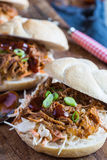 Sandwich tiré à porc photos stock