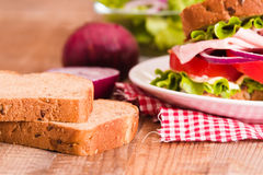 Sandwich toast bread. Royalty Free Stock Photos
