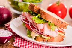 Sandwich toast bread. Royalty Free Stock Images