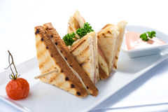 Sandwich toast stock photos