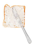 Sandwich from toast and soft cheese with herbs Royalty Free Stock Photography