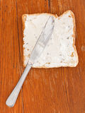 Sandwich from toast and soft cheese with herbs Stock Photography
