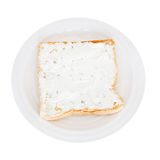 Sandwich from toast and soft cheese with herbs Royalty Free Stock Image