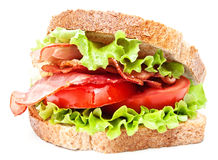 Sandwich with tomato and bacon Stock Photos