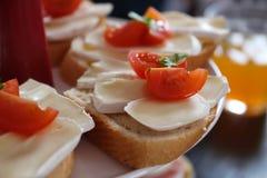 Sandwich tomato cheese Stock Photos