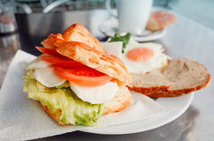 Sandwich with tomato and egg Stock Photos