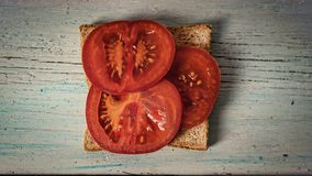 Sandwich with tomato, Healthy breakfast, super food stock photos