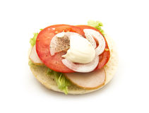 Sandwich. With tomato isolated on white background Stock Photo