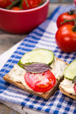 Sandwich with tomatoes Royalty Free Stock Photos
