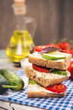 Sandwich with tomatoes Stock Photo