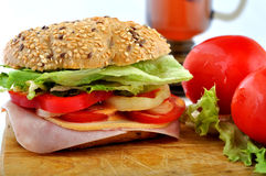 Sandwich with tomatos Stock Photography
