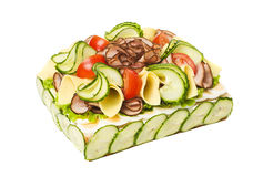 Sandwich-Torte stockfotografie