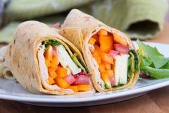 Sandwich tortilla wrap closeup Stock Photo