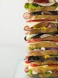 Sandwich à tour de Dagwood Image libre de droits
