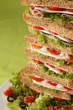 Sandwich tower Stock Image