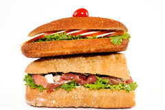 Sandwich tower Royalty Free Stock Image