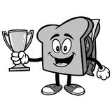 Sandwich with Trophy Illustration Royalty Free Stock Images