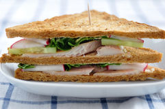 Sandwich with trout Stock Photo