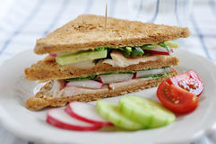 Sandwich with trout Royalty Free Stock Image
